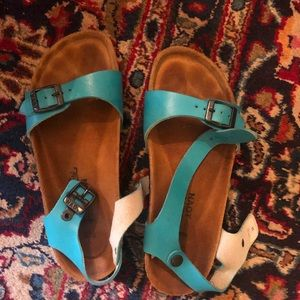 Cute turquoise Naot sandals size 7